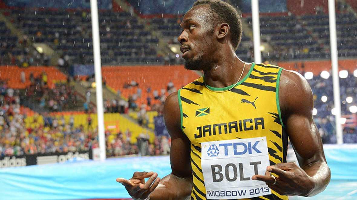 El jamaicano Usain Bolt se ha proclamado campeón del mundo de 100 metros lisos al derrotar a Justin Gatlin en la final de Moscú con un tiempo de 9.78.