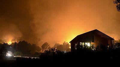 Un incendio entre Lugo y Ourense ha quemado ya unas 300 hectáreas
