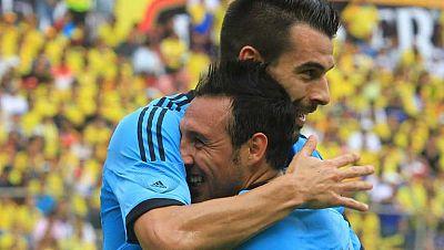 La selección español se impuso en Ecuador por 0-2, con goles de Cazorla y Negredo. Los autores de los tantos, junto con Del Bosque, Íñigo Martínez y Koke se han mostrado satisfechos con la actuación en Guayaquil.