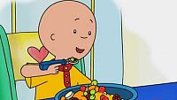 Caillou intenta silbar