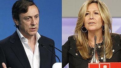 Rifirrafe entre el PP y el PSOE sobre el trazado del tren a Santiago