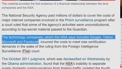Últimas revelaciones en el Caso Snowden