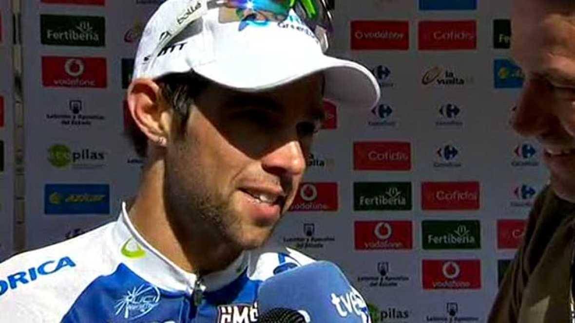 """""""La Vuelta era uno de mis objetivos del año. He llegado en buena forma y las sensaciones durante los primeros días fueron buenas. Ayer quedé tercero y hoy he podido ganar, la victoria más importante de mi carrera"""", ha dicho el vencedor de la etapa a"""