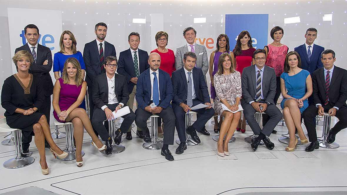 Los telediarios estrenan temporada el lunes con ana blanco for Cocinando con sergio en la1