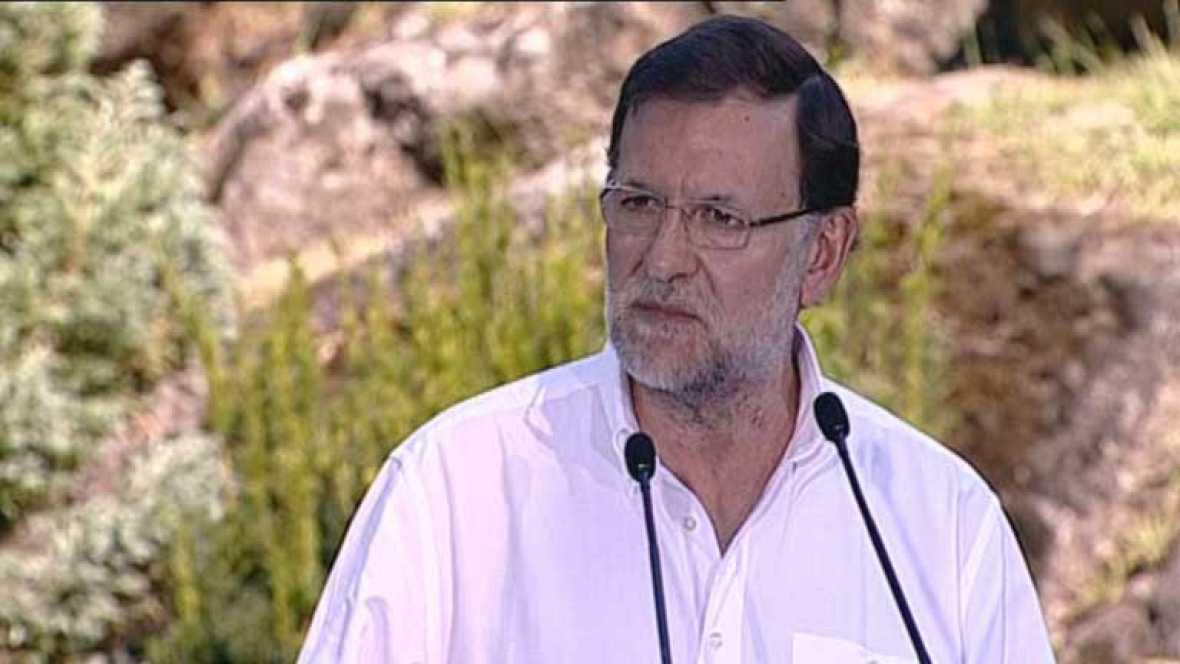 Rajoy mantiene su tradición e inaugura el curso político en Soutomaior
