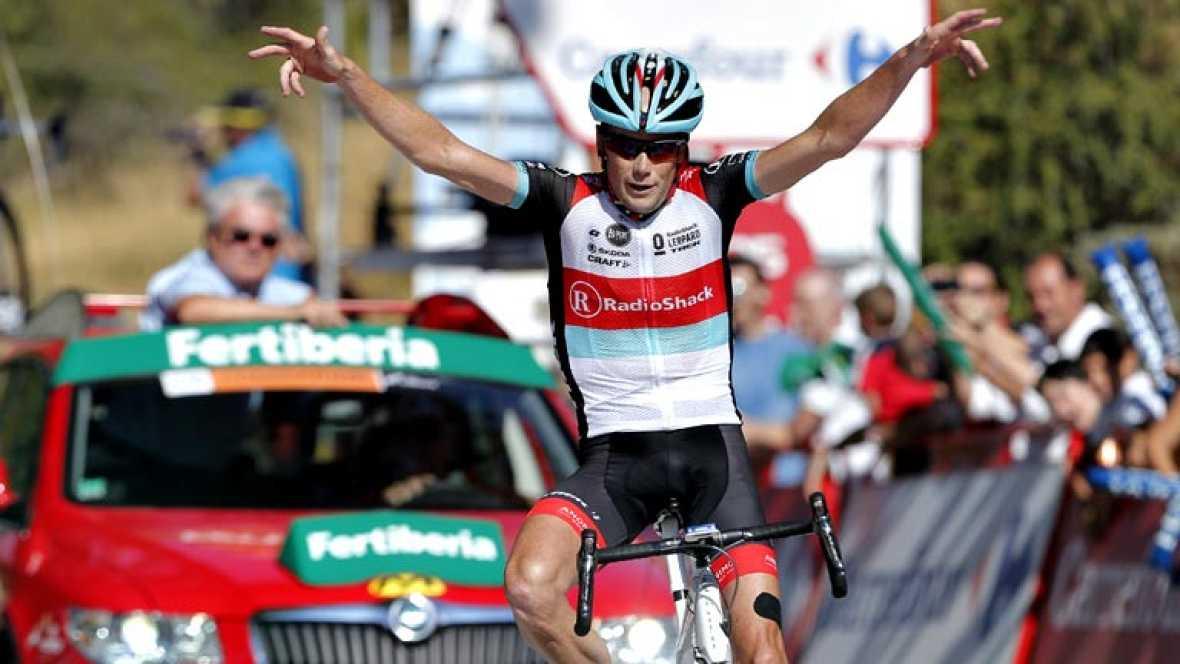 El veterano corredor estadounidense Chris Horner (RadioShack) se  ha impuesto este lunes en la décima etapa de La Vuelta ciclista a  España, disputada entre Torredelcampo y el Alto de Hazallanas (Güéjar  Sierra), al ser el más fuerte en la inédita as