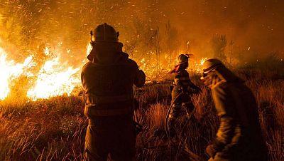 Los incendios forestales azotan varios puntos de Galicia