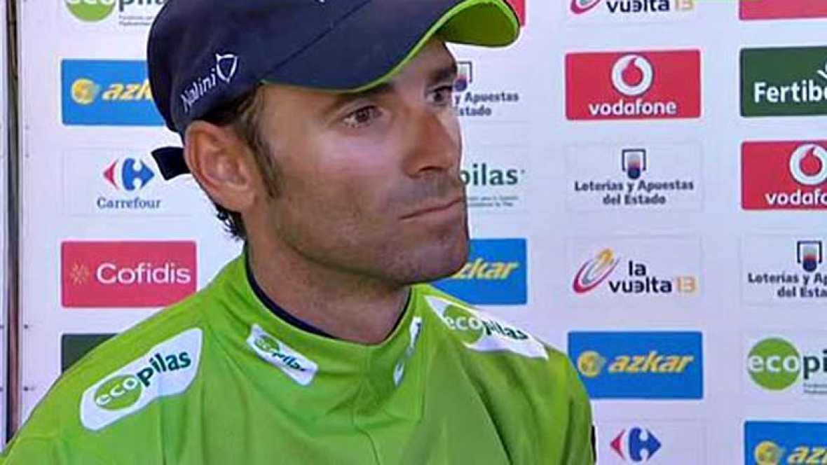El corredor murciano del Movistar ha dado la enhorabuena a Purito por su victoria y reconoce que Horner es el gran favorito para ganar la Vuelta.