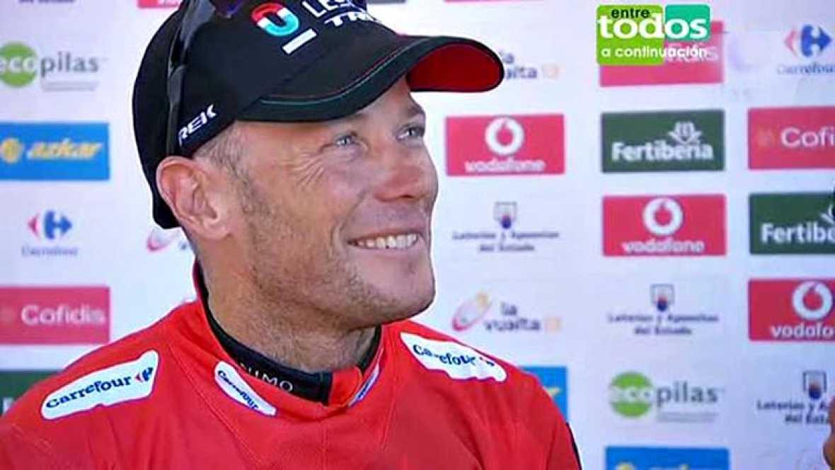El nuevo líder de la carrera reconoce que ha sido toda una sorpresa volver a vestirse de rojo en el Alto del Naranco.