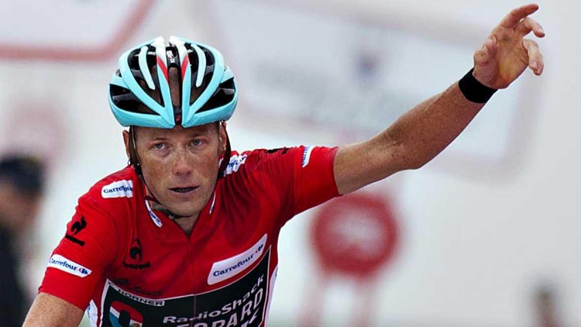 El francés Kenny Elissonde (Francaise) ha ganado la vigésima etapa disputada entre Avilés y el Alto de L'Anglirú, de 142,2 kilómetros, mientras que el estadounidense Chris Horner (Radioshack), segundo clasificado, se proclamó virtual ganador de la Vu