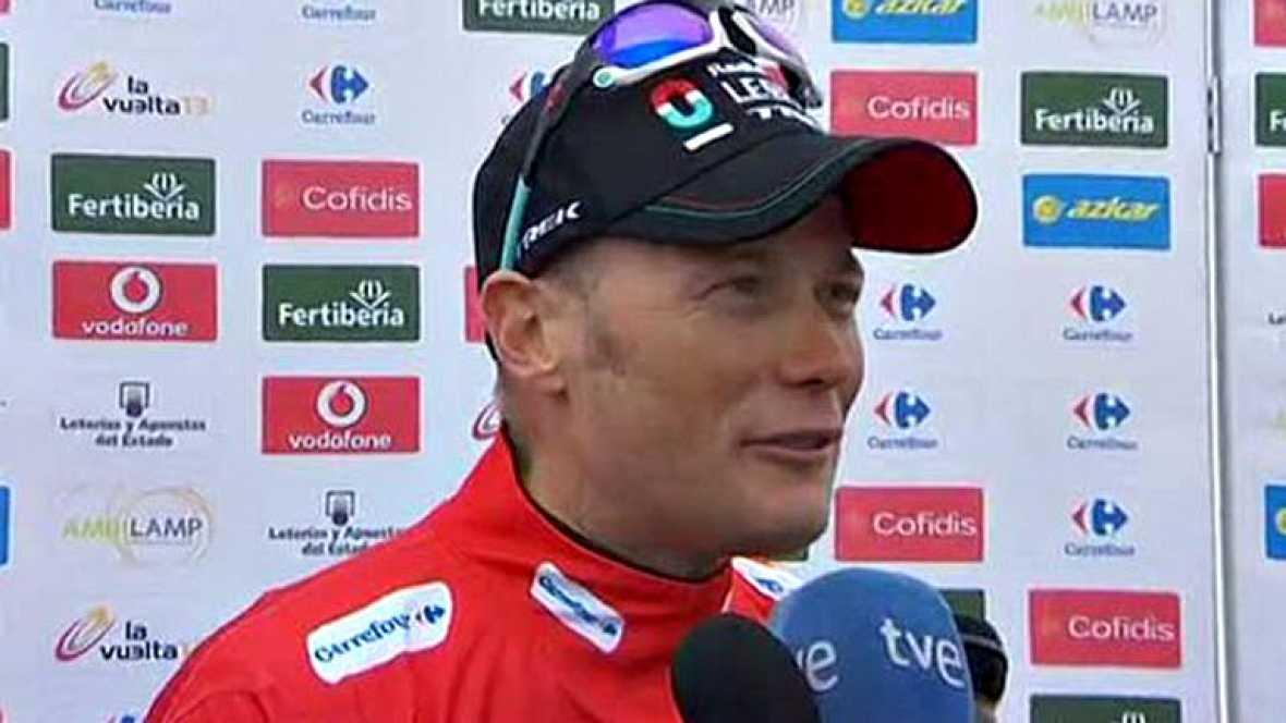 El virtual vencedor de la Vuelta ciclista a España 2013 ha manifestado su satisfacción y ha animado a todos a disfrutar porque no será fácil ver a un corredor de casi 42 años ganar una gran vuelta.