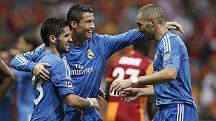 El Madrid arranca la Champions goleando al Galatasaray
