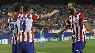 El Atlético de Madrid celebra con un triunfo su vuelta a la Champions cuatro años después