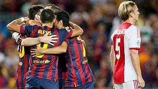El Barça arranca la Champions con goleada y 'hat-trick' de Messi