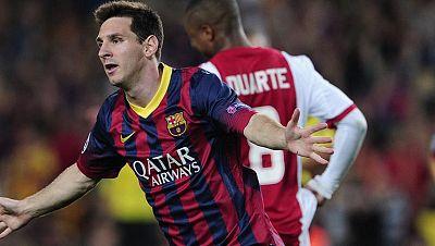 Messi y Valdés brillan en el estreno goleador del Barça en Champions