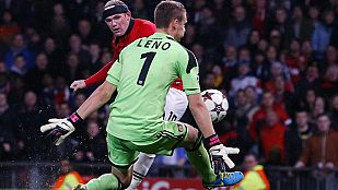 El Manchester United golea (4-2) al Leverkusen