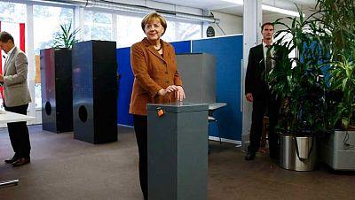 Bruselas se paraliza a la espera del resultado de Alemania