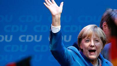 Angela Merkel se hace con su tercera victoria electoral aunque no consigue mayoría absoluta
