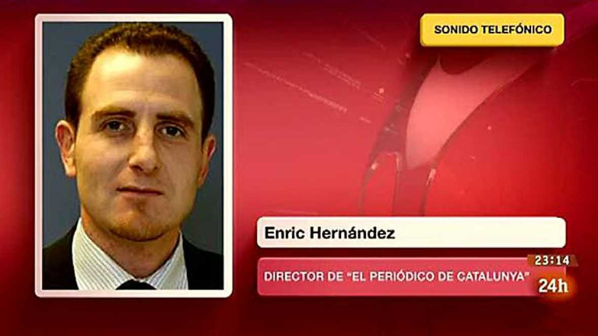 Enric Hernández, director de El Periódico, informa del secuestro del periodista Marc Marginedas en Siria