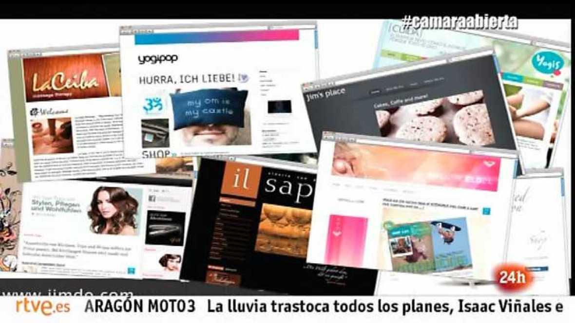 Cámara abierta - La plataforma Jimdo, la webserie 18.0, BabyTribu.com y Lucía Etxebarría en 1minutoCOM - 28/09/13 - Ver ahora