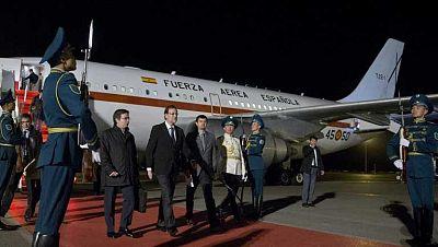 Rajoy llega a Kazajistán de visita oficial