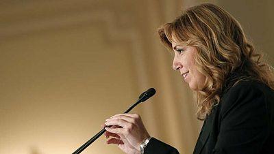 """La presidenta de Andalucía critica el llamado """"derecho a decidir"""" en Cataluña, y lo califica de engaño"""