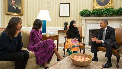 Obama desea que los sueños de Malala se hagan realidad