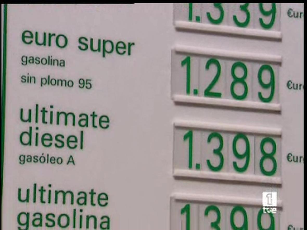 Máximo histórico del gasóleo y la gasolina