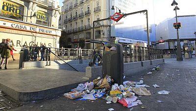 Se cumple una semana de la huelga de limpieza en Madrid