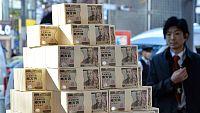 Reportaje sobre la situación económica, financiera e industrial de Japón frente a Occidente.