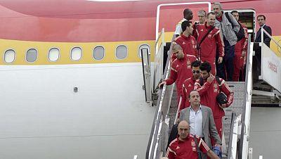 Malabo da un caluroso recibimiento a la selección española