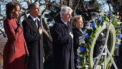 Obama y los Clinton honran a Kennedy