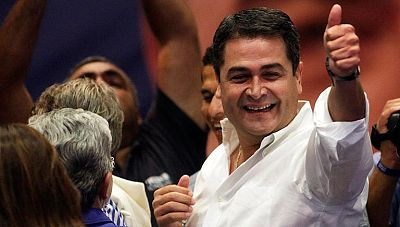 Ventaja del candidato oficialista Juan Orlando Hernández en las elecciones de Honduras