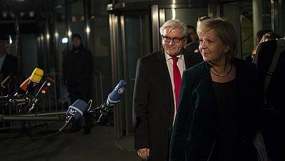 Merkel y los socialdemócratas cierran un acuerdo para gobernar en coalición