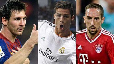 No hubo sorpresas en los candidatos al Balón de Oro 2013. Cristiano Ronaldo (Real Madrid), Leo Messi (FC Barcelona) y Frank Ribèry (Bayern de Múnich) son los tres finalistas que optan al dorado galardón, según ha anunciado la FIFA y la revista 'Franc
