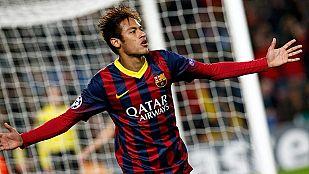 El Barcelona golea al Celtic con triplete de Neymar