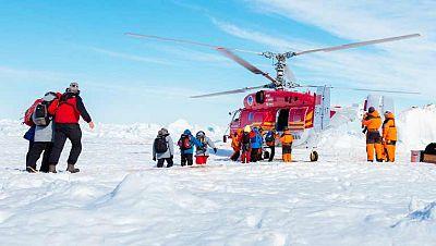 Labores de rescate en la Antártida