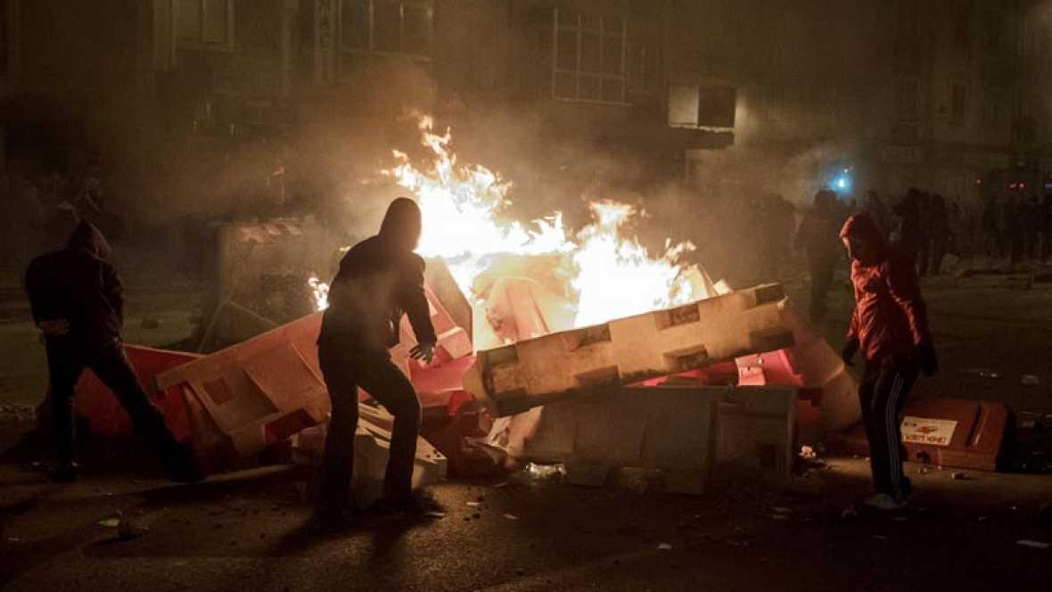 Disturbios en Burgos en una protesta contra la conversión de una calle en bulevar