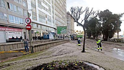 Alerta máxima en Galicia por vientos de 140 kilómetros por hora