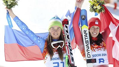Histórico empate por el oro olímpico en el descenso femenino
