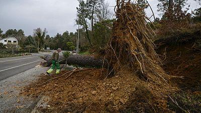 Las rachas de viento superan los 160 km/h en Galicia y provocan problemas en las carreteras
