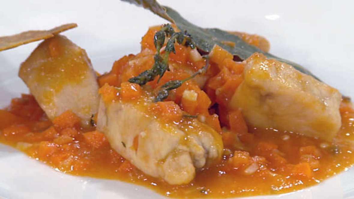 Cocina con sergio pollo al tomillo con crujiente de ma z - Cocina con sergio pepa ...