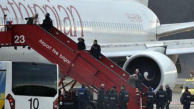 Detenido el copiloto de un avión etíope por secuestrarlo y desviarlo a Ginebra