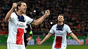 Ibrahimovic lleva al PSG a las puertas de los cuartos de final
