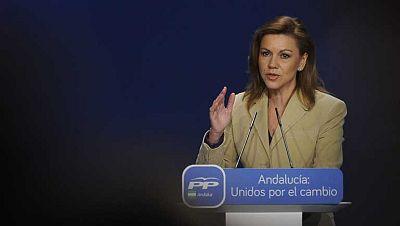 Cospedal inaugura en Andalucía el congreso que elegirá a Juan Manuel Moreno como su nuevo presidente