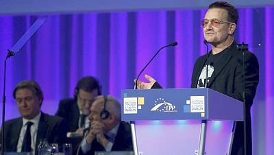 El cantante de U2 pide ante el PP europeo una campaña de apoyo a la economía española