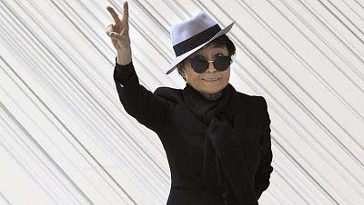 Yoko Ono presenta una exposición antológica en el Gugenheim, en Bilbao