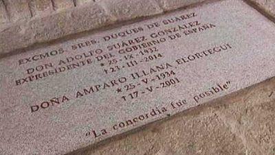 Visitamos la tumba de Adolfo Suárez