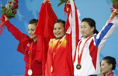 Primera medalla para China