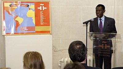 """Teodoro Obiang, presidente de GuiObiang agradece al rey su """"influencia"""" para ir al Cervantes y la Casa Real niega haber intervenido"""